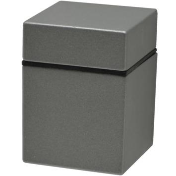 Console Duraline Clip Cube argenté mat