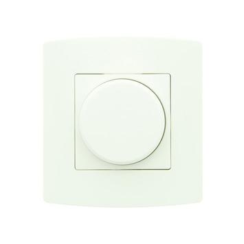 Profile universele draaiknopdimmer 3-200 W wit - geschikt voor LED