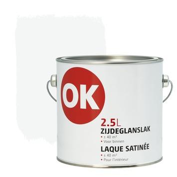 Laque intérieure satinée OK 2,5 L blanc