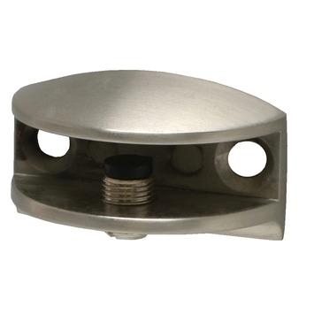 Duraline Clip Glas plankdrager geborsteld nikkel