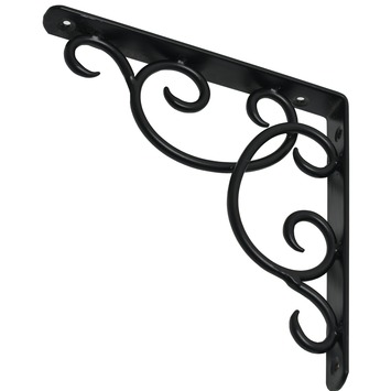 Console Duraline Curly noir mat 19x19 cm