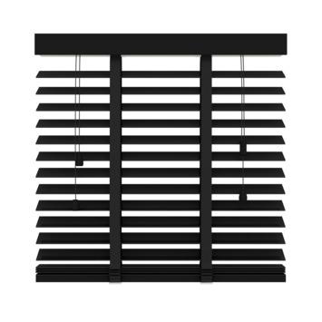 Store vénitien en bois GAMMA 50 mm 947 noir mat 120x220 cm
