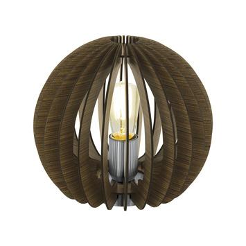 Lampe de table Eglo Cossano bol E27 60 W bois