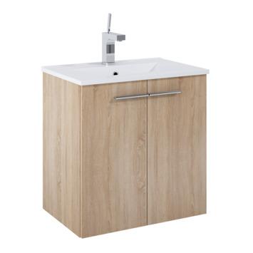 Meuble de salle de bains Clara Atlantic 2 portes motif bois 60 cm