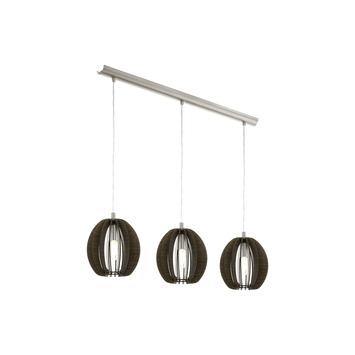 Eglo hanglamp Cossano 3 x E14 40 W hout model 2