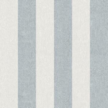 Papier peint intissé Vague rayé bleu-argent 104764
