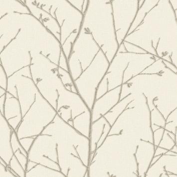 Vliesbehang Spring creme 104756