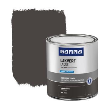 Laque extérieure satinée GAMMA 750 ml gris noir