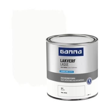 Laque extérieure satinée GAMMA 750 ml blanc RAL9016
