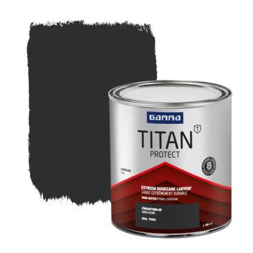 GAMMA Titan buitenlak zijdeglans 750 ml zwartgrijs