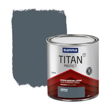 Laque extérieure satinée GAMMA Titan 750 ml gris plomb