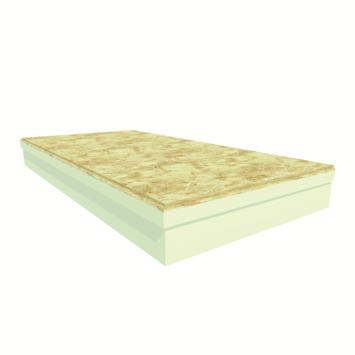 Utherm4U PIR + OSB plaat, dikte 112 mm (100+12 mm), afm. 120x60 cm (0,72 m²), R-waarde = 4,5 2stuks