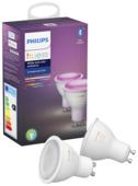 Ampoule spot LED Philips Hue GU10 5,7W blanc et couleurs
