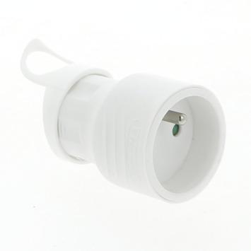 Profile tegenstekker met oog 2-polig 16 A wit