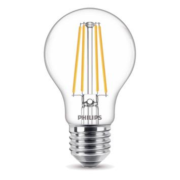 Ampoule LED poire Philips  E27 75W A60 transparent