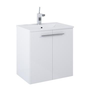 Meuble de salle de bains Clara Atlantic 2 portes blanc 60 cm