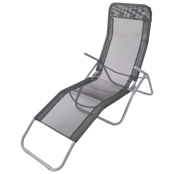 Chaise longue camping gris
