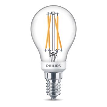 Ampoule LED sphérique Philips  E14 40 W blanc chaud dimmable