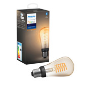 Ampoule LED filament Philips Hue E27 ST64 7W blanc dimmable