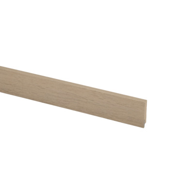 Hoge plint nr 922 12x60mm 240cm PVC naturel eiken