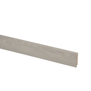 Hoge plint nr 928 12x60mm 240cm PVC grijs eiken Volera