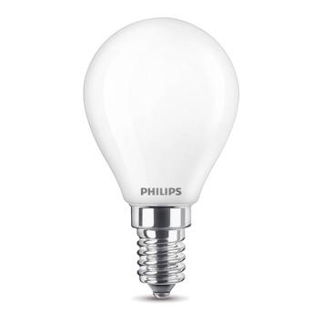 Ampoule LED sphérique Philips E14 60 W blanc chaud