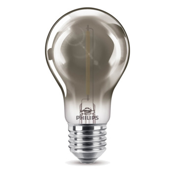 Ampoule LED poire Philips E27 15 W smokey