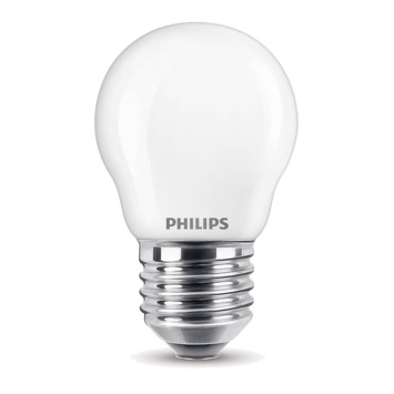 Ampoule LED sphérique Philips E27 40 W blanc chaud dimmable