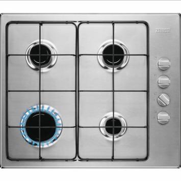 Table de cuisson au gaz Zanussi ZGH62414XS 60 cm 4 zones inox