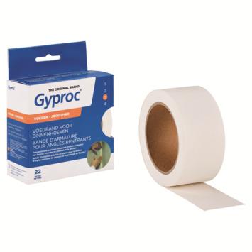 Bande de jointoiement Gyproc 22 m angle intérieur blanc