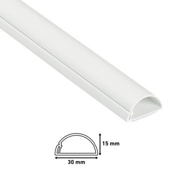 D-line kabelgoot half rond 30x15 mm 2 m wit