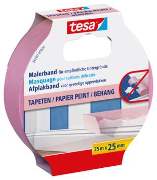 Ruban de masquage pour surfaces sensibles Tesa 25 mm 25 m