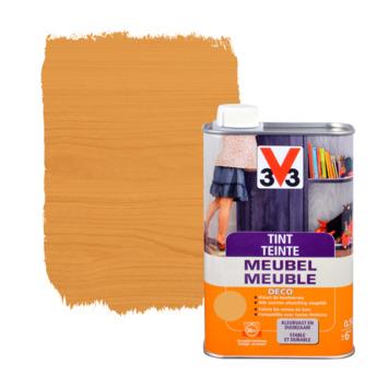 V33 tint meubel deco zijdeglans midden eik 500 ml