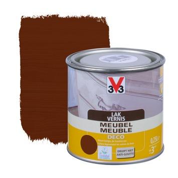 V33 meubelvernis deco zijdeglans donkere eik 250 ml