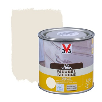 V33 meubelvernis deco zijdeglans wit 250 ml
