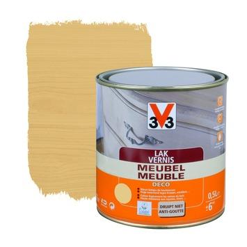 V33 meubelvernis deco zijdeglans lichte eik 500 ml