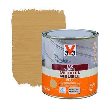 V33 meubelvernis deco zijdeglans midden eik 500 ml