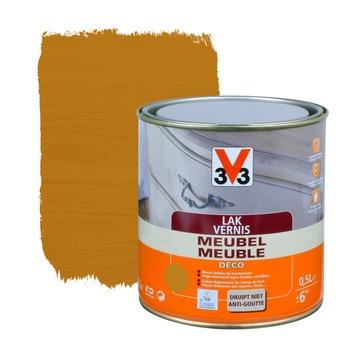 V33 meubelvernis deco zijdeglans rustieke eik 500 ml