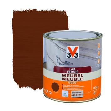 V33 meubelvernis deco zijdeglans donkere eik 500 ml