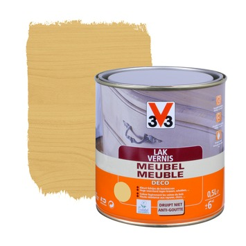 V33 meubelvernis deco mat licht eik 500 ml