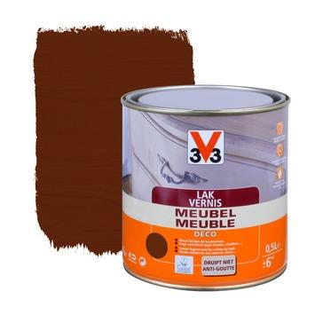 V33 meubelvernis deco mat donker eik 500 ml