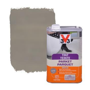 V33 parkettint zijdeglans gerookt grijs 1 L