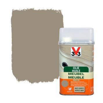 V33 meubelolie deco mat donkergrijs 500 ml