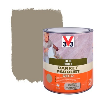 V33 parketolie mat donkergrijs 2,5 L