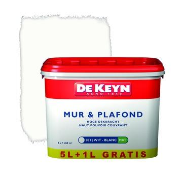 De Keyn muur- en plafondverf zijdeglans 001 wit 6 L