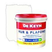 Peinture murale De Keyn Decolatex mat 001 blanc 12 L