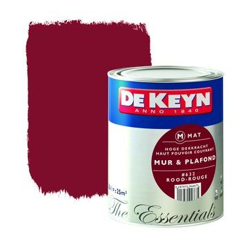 Peinture Mur Plafond De Keyn Mat 632 Rouge 25 L Peinture Mur