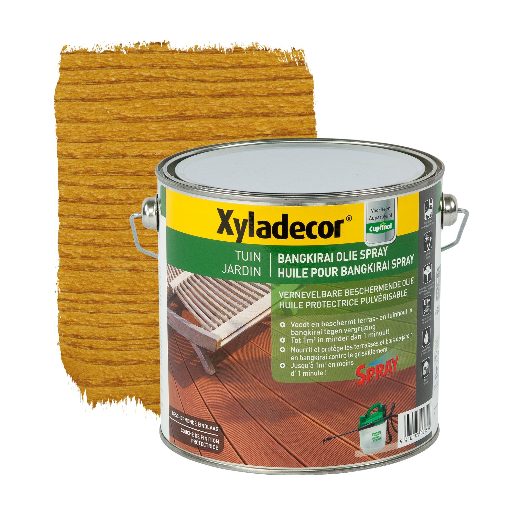 Huile pour bangkirai xyladecor spray naturel 2 5 l - Papier pour peinture huile ...