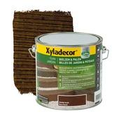 Billes de jardin et poteaux Xyladecor brun foncé 2,5 L