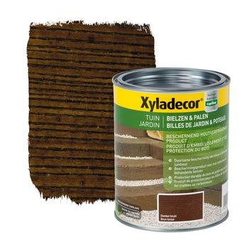 Xyladecor Bielzen & Palen houtbehandeling donkerbruin 1 L